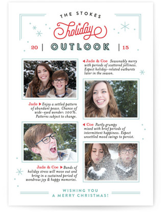 Holiday Forecast Christmas Photo Cards