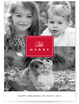 Merry Trio Christmas Photo Cards