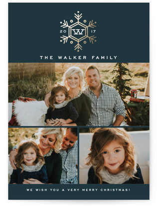 Seasonal Monogram Christmas Photo Cards