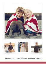 Modern Candy Stripes Christmas Photo Cards