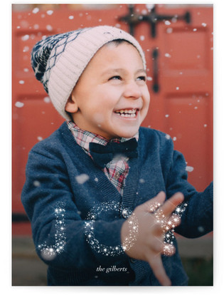 Glow and Glimmer Christmas Photo Cards