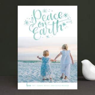 Lettered Peace Christmas Photo Cards