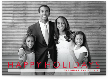 Modern Gallery Christmas Photo Cards