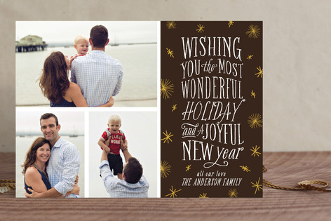 Joyful Type Christmas Photo Cards