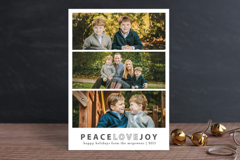 Modern Joy Christmas Photo Cards