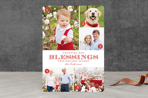 Counting Blessings Christmas Photo Cards