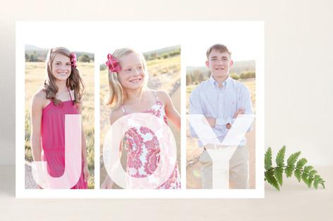Tri Joyful Family Christmas Photo Cards