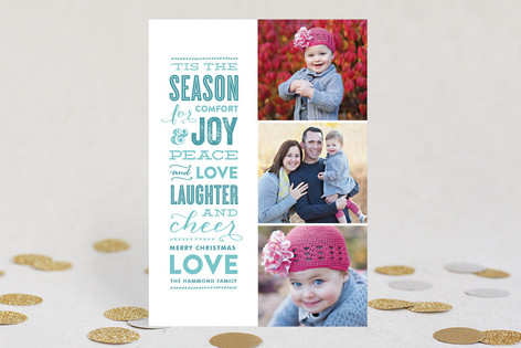 The Festive Type Christmas Photo Cards