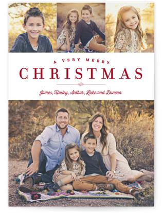 Sparkling Border Christmas Photo Cards