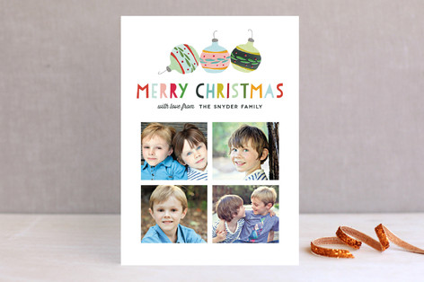 Joyful Ornaments Christmas Photo Cards