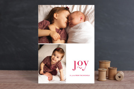 Lifted Joy Christmas Photo Cards