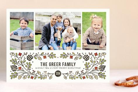 Holiday Garden Christmas Photo Cards