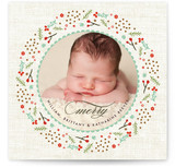 Woodland Wreath Christmas Photo Cards