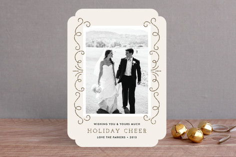 Elegant Holiday Cheer Christmas Photo Cards