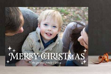 Modish Merry Christmas Photo Cards
