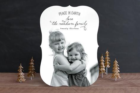 Elegant Peace Christmas Photo Cards