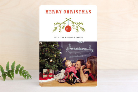 Peaceful Branches Christmas Photo Cards