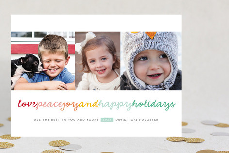 Happy Kisses Christmas Photo Cards