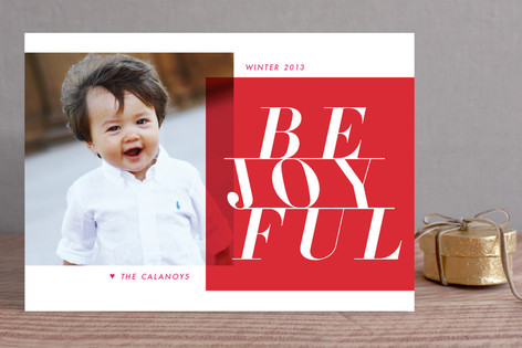 Active Joy Christmas Photo Cards