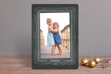 Chalkboard Frame Christmas Photo Cards
