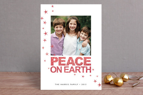 Stars and Peace Christmas Photo Cards