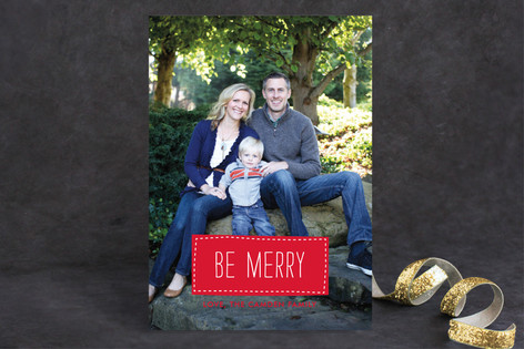 Patchwork Christmas Photo Cards