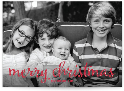 Script & Snow Christmas Photo Cards