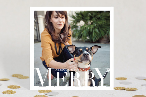 Jolly Be Square Christmas Photo Cards