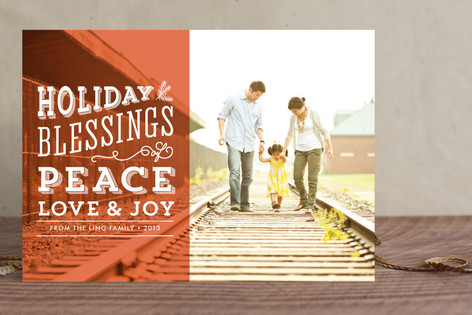 Blessings Overlay Christmas Photo Cards