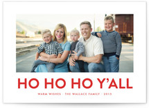 Southern Accent Christmas Photo Cards