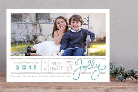 Jolly Typography Christmas Photo Cards