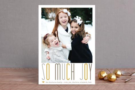 A Whole Lot of Joy Christmas Photo Cards