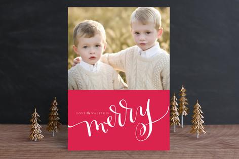 Cadmium Ink Christmas Photo Cards