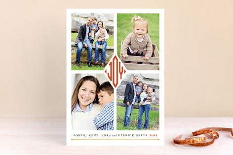 Joy Monogram Christmas Photo Cards