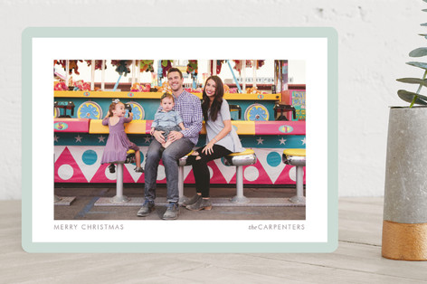 Bright Border Christmas Photo Cards