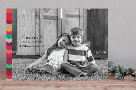 Color Zip Christmas Photo Cards