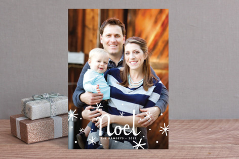 Starry Noel Christmas Photo Cards