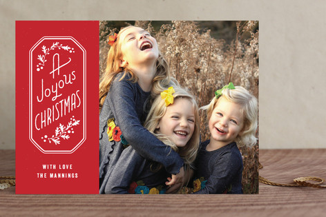 Joyous Frame Christmas Photo Cards