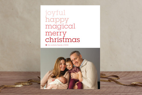 Wordsmith Christmas Photo Cards