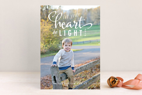Light Heart Christmas Photo Cards