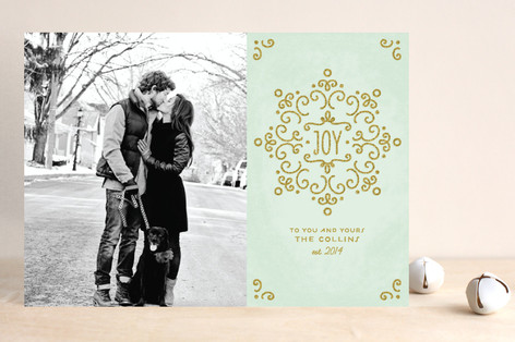 Snow Fancy Christmas Photo Cards