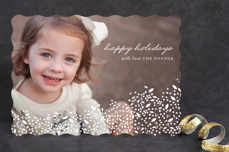 Beautiful Snowfall Christmas Photo Cards