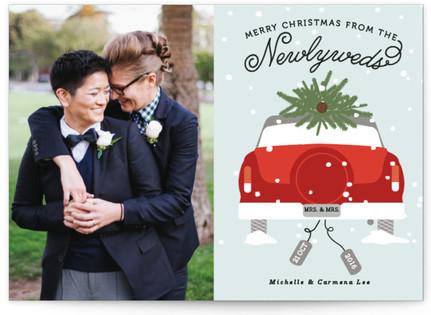 Newlywed Christmas Christmas Photo Cards