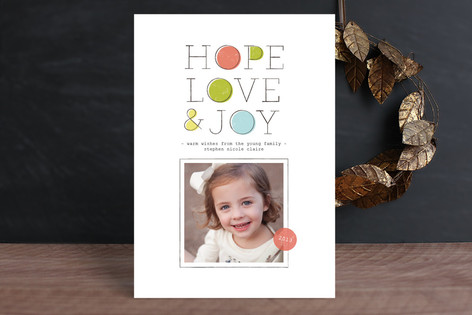 Rough Patches Christmas Photo Cards
