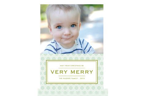 Honeycomb Christmas Photo Cards