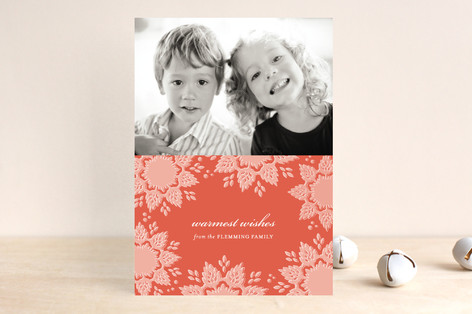 Snowlace Christmas Photo Cards