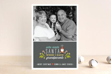 Who Needs Santa Christmas Photo Cards