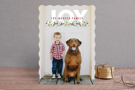 Noel Berries Christmas Photo Cards