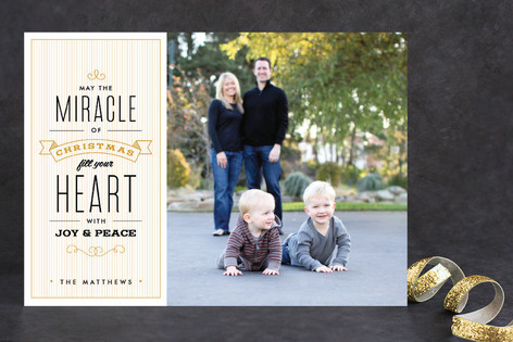 The Miracle of Christmas Christmas Photo Cards