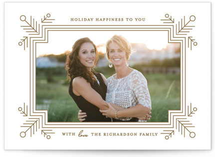 Glimmer Christmas Photo Cards